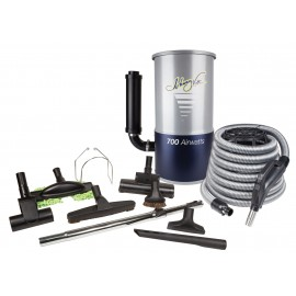 Central Vacuum, Johnny Vac, # JV700KITHA35, With 35 ' Hose, Accessories And Installation Kit