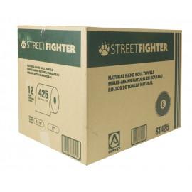 Papier essuie-mains - rouleau de 425' (129,5 m) - boîte de 12 rouleaux - brun - Streetfighter ABP ST4252