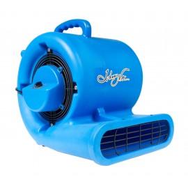 """Portable Blower / Fan / Floor Dryer - Johnny Vac - Fan Diameter 9.5"""" (24 cm) - 3 Speeds - with Handle - Blue"""