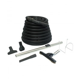 Deluxe garage central vacuum kit with brushes, bracket, tool and 30' hose - Demo
