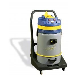 Aspirateur commercial sec et humide - JV420P - sur chariot à roulettes - cuve basculante 60 L - brosse pour l'eau, tapis et plancher - KOALA 420B JV