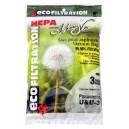 Sac microfiltre HEPA pour aspirateur Panasonic type U et U-3 - paquet de 3 sacs - Envirocare A157JV