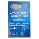 Sac microfiltre HEPA pour aspirateur chariot Miele de type G et N - paquet de 5 sacs + 2 filtres - Envirocare C204