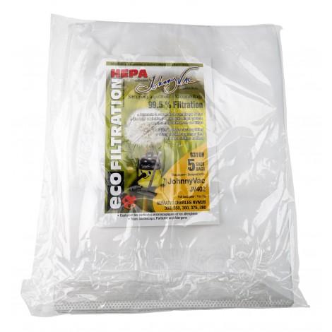 Sac microfiltre HEPA pour aspirateur Johnny Vac JV402 et Numatic NVM2B - paquet de 5 sacs