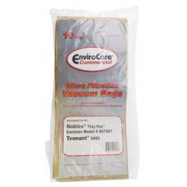Paper Bag for Nobles Tidy Vac 607961 et Tennant 3400 Vacuum - Pack of 10 Bags - Envirocare ECC802224