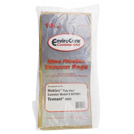 Sac en papier pour aspirateur Nobles Tidy Vac 607961 et Tennant 3400 - paquet de 10 sacs - Envirocare ECC802224