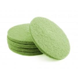 """Tampons pour polisseuse à plancher - pour récurer - 14"""" (35,5 cm) - vert - boîte de 5 - 66261054258"""