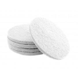 "Floor Machine Pads - Super Polish - Spray Buff - 15"" (38.1 cm) - White - Box of 5 - 66261054207"