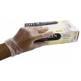Gants jetables en vinyle - sans poudre - Shur-Skin - clair - taille petit - 7-VINCL-5G-S - boîte de 100