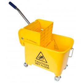 Ensemble seau et tordeur à pression latérale - 5 gal (21 L) - jaune