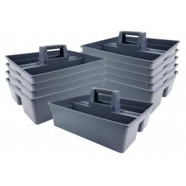 Bac en plastique pour produits de nettoyage - gris - 10 unités