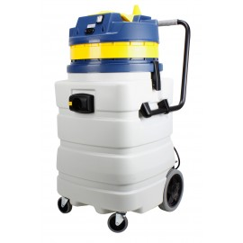 Heavy Duty Wet & Dry Commercial Vacuum - Capacity of 22.5 gal (85 L) - Electrical Outlet - 10' (3 m) Hose - Plastic and Aluminum Wands - Brushes and Accessories Included - IPS ASDO07417