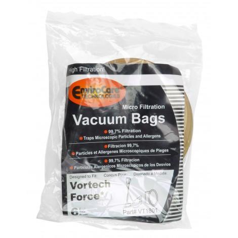 Sac en papier pour aspirateur Vortech Force - paquet de 6 sacs - VT1801