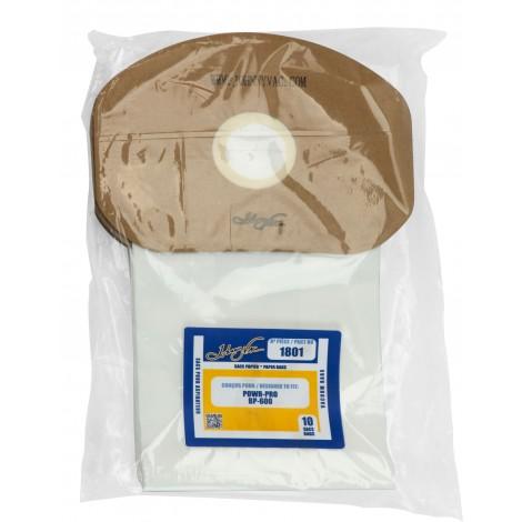 Sac en papier pour aspirateur Powr-Pro BP-600 - paquet de 10 sacs