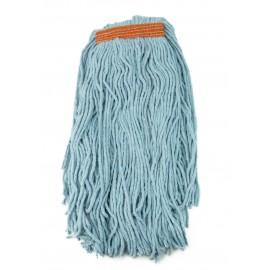 Tête de vadrouille / moppe synthétique de rechange - humide pour laver - 453 g (16 oz) - bleue