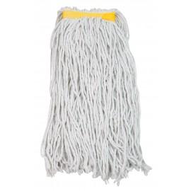 Tête de vadrouille / moppe synthétique de rechange - humide pour laver - 453 g (16 oz) - blanche