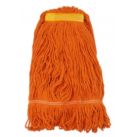 String Mop Replacement Head - Synthetic Washing Mops - Looped End - 24 oz (680 g) - Orange