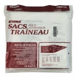 Paper Bag for Kenmore Sears Canister Vacuum - Pack of 10 Bags