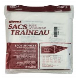 Sac en papier pour aspirateur chariot Kenmore Sears - paquet de 10 sacs
