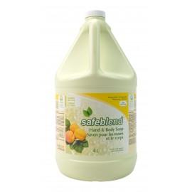 Savon pour les mains et le corps - abricot et thé vert - 4 L (1,06 gal) - Safeblend HLGT-G04