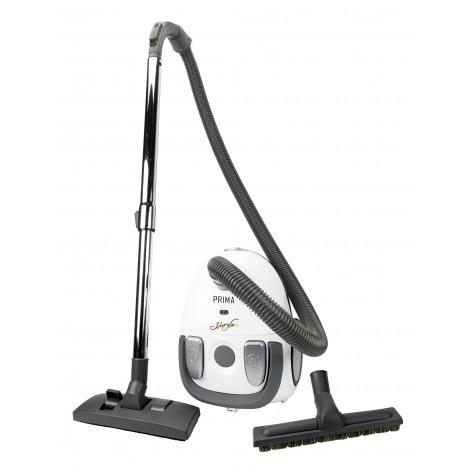 Canister Vacuum - Johnny Vac Prima - HEPA Bag - Carpet and Floor Brush - Telescopic Handle - Set of Brushes