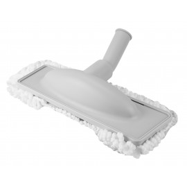 """Microfiber Dust Mop - 1 1/4"""" (32 mm) dia - Cleaning Path 12"""" (30.5 cm) - Grey and White"""