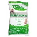 Microfilter Bag for Kirby Sentry Vacuum - Pack of 6 Bags - Envirocare A835