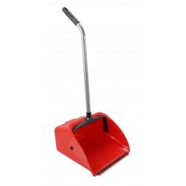 Standing Dust Pan - Long Handle - Jumbo - Red