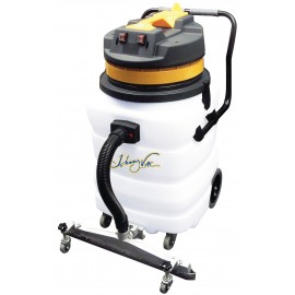 Heavy Duty Wet & Dry Commercial Vacuum - Capacity of 22 gal (85 L) - 2 Motors - Integrated Squeegee - Electrical Outlet - 10' (3 m) Hose - Plastic and Aluminum Wands - Brushes and Accessories Included - IPS ASDO07433