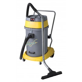Wet & Dry Commercial Vacuum - Capacity of 15 gal (57 L) - 2 Motors - 10' (3 m) Hose - Metal Wands - Brushes and Accessories Included - Ghibli 15351250210