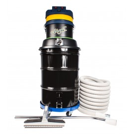 Wet & Dry Commercial Vacuum - 3 Motors - Capacity of 45 Gal (171 L) - with Accessories & Trolley - 50' (15 m) Power Cord