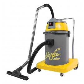 HEPA Certified Commercial Vacuum Cleaner - 8 gal (30 L) Tank Capacity - 10' (3 m) Hose - Metal Wands - Brushes and Accessories Included - Ghibli