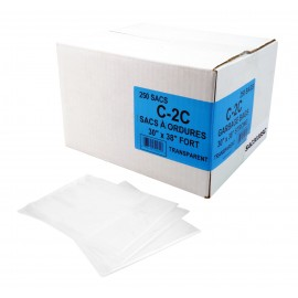 "Commercial Garbage / Trash Bags - Regular - 30"" x 38"" (76.2 cm x 96.5 cm) - Clear - Box of 250"