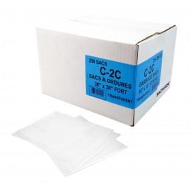 """Sacs à poubelle / ordures commercial - régulier - 30"""" x 38"""" (76,2 cm x 96,5 cm) - clair - boîte de 250"""