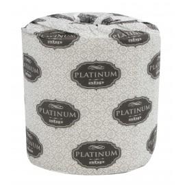 Papier hygiénique - 2 épaisseurs - boîte de 48 rouleaux de 500 feuilles - blanc - Platinum PL500