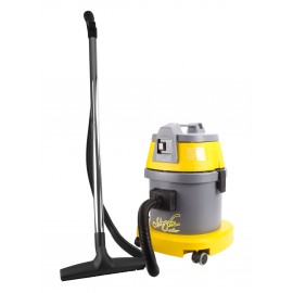 Wet and Dry Commercial Vacuum - 4 gal (15 L) Capacity - 10' (3 m) Hose - Metal Wands - Brushes and Accessories Included - Ghibli 17091250210