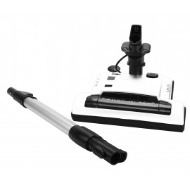 "Power Nozzle - 12"" (30.5 cm) Width - Adjustable Height - Quick Connect Release - White - Flat Belt - With Wand Included - Headlight - Wood Roller Brush - Johnny Vac PN33W"