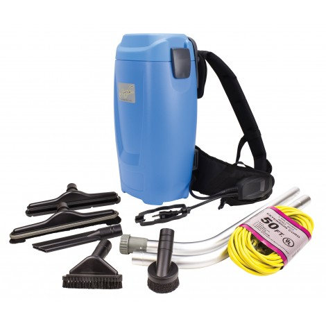 Backpack Vacuum - Johnny Vac - Capacity of 1.5 gal (5,65 L) - HEPA Filtration - with Accessories and Superior Quality Harness