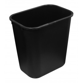 Office Trash Can / Bin - Wastebasket - 1.6 gal (6 L) - Black