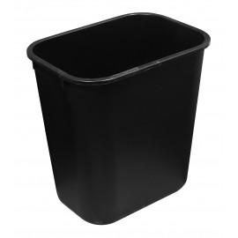 Poubelle / Corbeille de bureau - 6 L (1,6 gal) - Noire