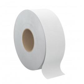 "Commercial Jumbo Bathroom Tissue - 2-Ply - 3.3"" x 600' (8.4 cm x 182.9 m) - Box of 8 Rolls - White - Cascades Pro B085"