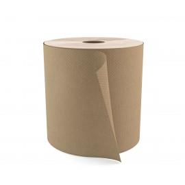 """Papier essuie-mains - largeur de 7,9"""" (20 cm) - Rouleau de 800' (243,4 m) - boîte de 6 rouleaux - brun - Cascades Pro H085"""