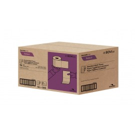 "Standard Bathroom Tissue - 2-Ply - 4.25"" x 3.25"" (10.8 cm x 8.3 cm) - Box of 96 Rolls of 500 Sheets - White - Cascades Pro B041"