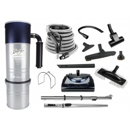 Central Vacuum JV700LSHA11EZ from Johnny Vac, With 30 ' Hose, Power Nozzle and Accessories