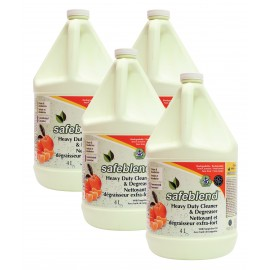 Dégraisseur / dégraissant extra-fort concentré - tangerine - 4 L (1,06 gal) - Safeblend - DCTO G04 - Boîte de 4