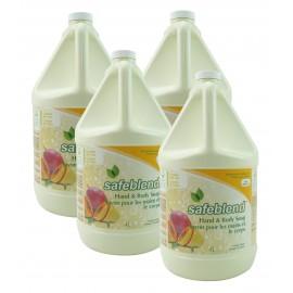 Savon pour les mains et le corps - mangue papaye - 4 L (1,06 gal) - Safeblend HLMP-G04 - Boîte de 4