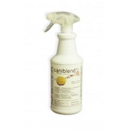 Nettoyant - désodorisant - désinfectant - prêt à utiliser - citron - Saniblend RTU - 33,4 oz (950 ml) - Safeblend SRTL-XWD