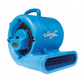"Blower / Fan / Floor Dryer - Johnny Vac - Fan Diameter 9.5"" (24 cm) - 3 Speeds - with Handle - Integrated Electrical Inlet - Blue"