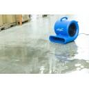 """Ventilateur de plancher / souffleur - Johnny Vac - diamètre du ventilateur 9,5"""" (24 cm) - 3 vitesses - avec poignée - barre d'alimentation électrique intégrée - bleu"""