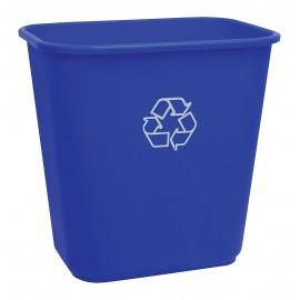 Recycling Bin - 5.7 gal (26 L) Capacity - Lightweight - Blue
